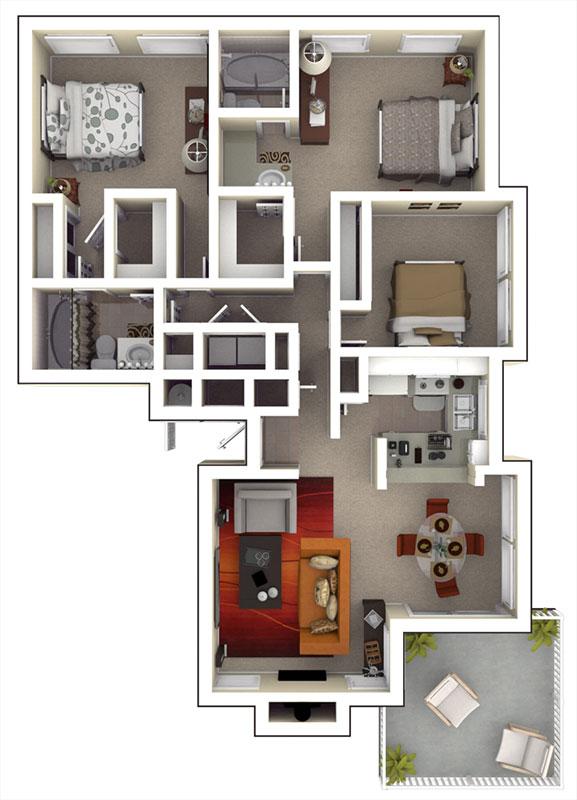 Apartments Near Uc Davis Campus Tanglewood Floor Plans